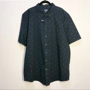 🌿 NWT Navy George Button Down Short Sleeve Shirt